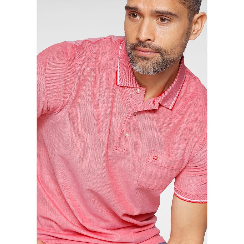 OLYMP Poloshirt »CASUAL«, mit elastischen Ärmelabschlüssen