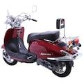 Alpha Motors Motorroller »Retro Firenze«, 3 PS, 50 ccm, 45 km/h, mattschwarz/braun