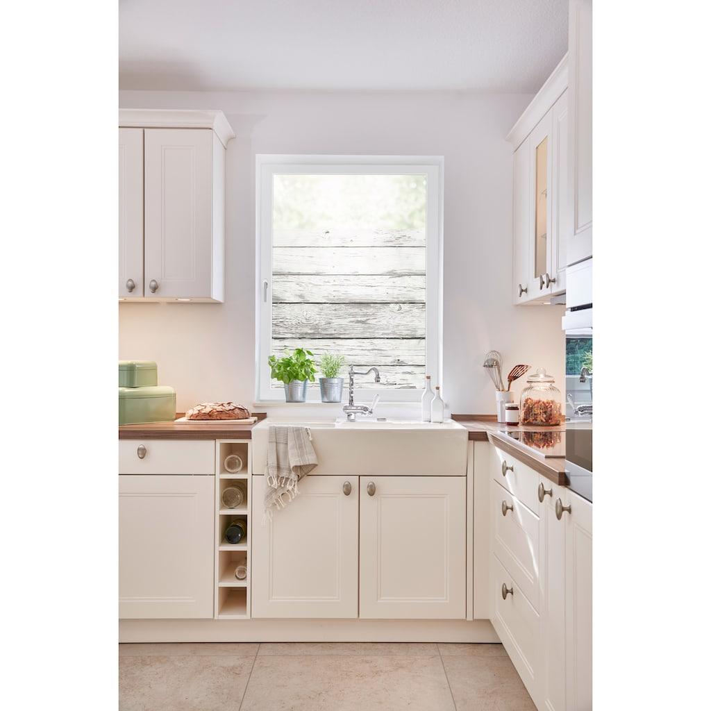 LICHTBLICK ORIGINAL Fensterfolie »Bretter-Vintage«, 1 St., blickdicht, strukturiertKlebepunkte