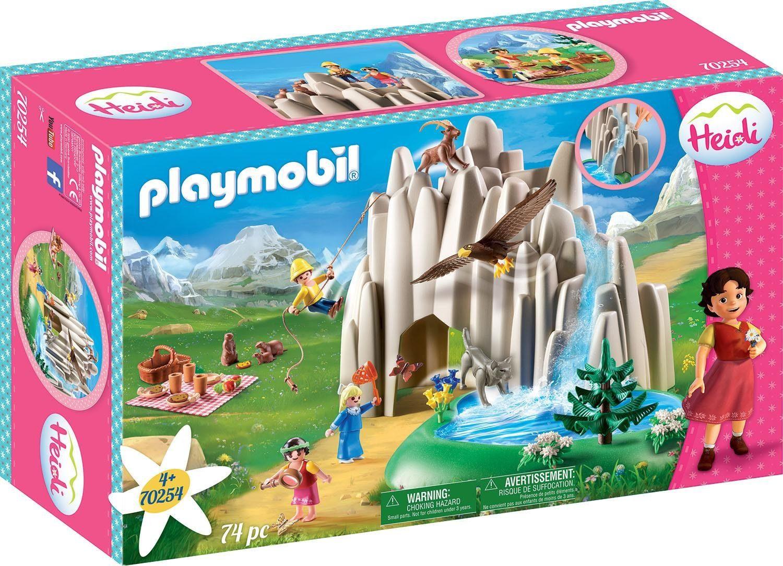 Playmobil Konstruktions-Spielset Am Kristallsee mit Heidi, Peter und Clara (70254), ; Made in Germany bunt Kinder Ab 3-5 Jahren Altersempfehlung