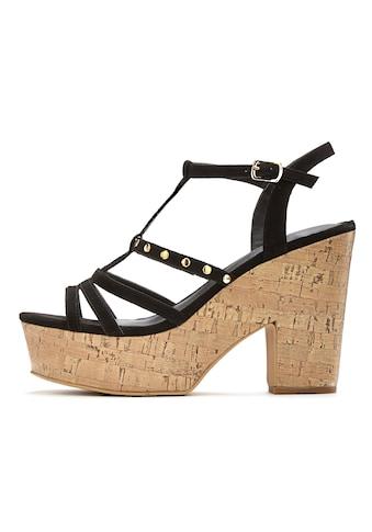 LASCANA High-Heel-Sandalette, mit modischem Plateau und Kork-Look kaufen