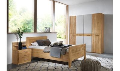 rauch BLACK Schlafzimmer-Set »Vivien«, mit massiver Holzfront und Farbglas Champagner kaufen