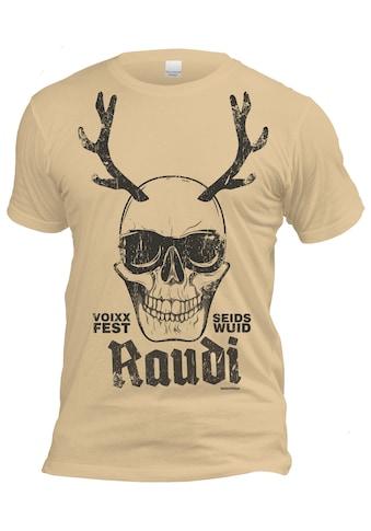 Der Trachtler Trachten mit Schädel - Design »T - Shirt Voixxfest Raudi Seids Wuid« kaufen