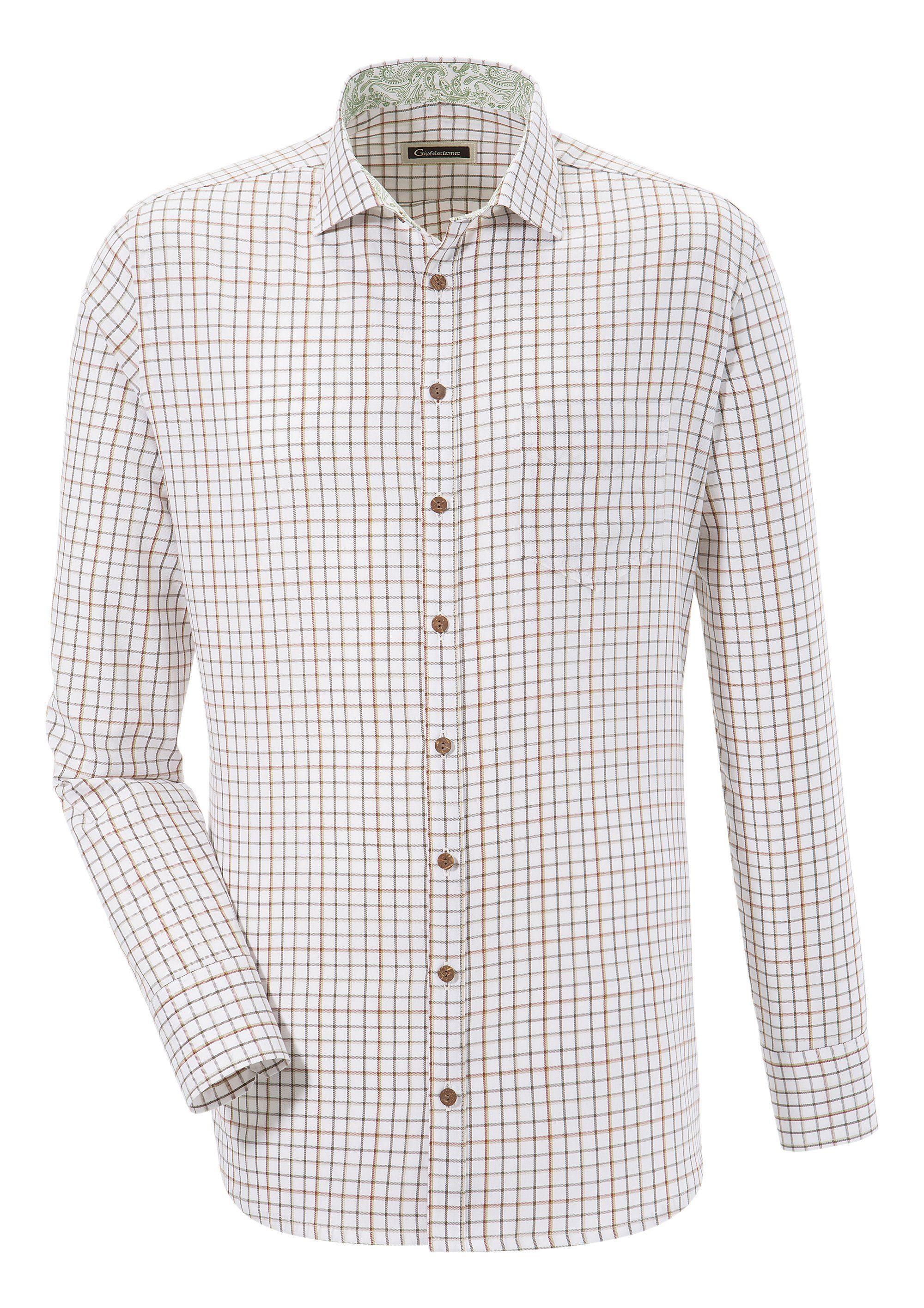 OS-Trachten Trachtenhemd in denzentem Karo-Design | Bekleidung > Hemden > Trachtenhemden | Os-Trachten