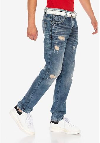 Cipo & Baxx Straight-Jeans, im modischen Destroyed-Look kaufen