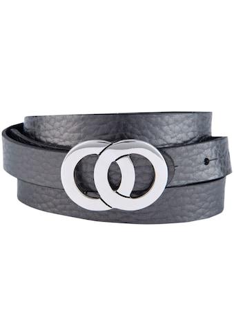 BERND GÖTZ Koppelgürtel, mit schmalem Schnitt, Silberne Designschließe Doppelring kaufen