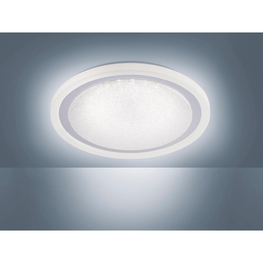 Leuchten Direkt Deckenleuchte »MEDINA«, LED-Board, Warmweiß-Neutralweiß-Tageslichtweiß, CCT - Farbtemperaturregelung (verstellbar von 3000-5000K) Dimmbar über Fernbedienung Serienschalter Memoryfunktion Sternenhimmeloptik, Ø 40 cm