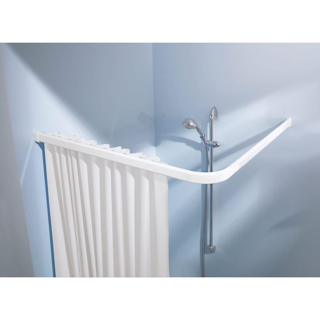 Kleine Wolke Vorhangschiene »Winkelschiene«, kürzbar, für Duschvorhänge