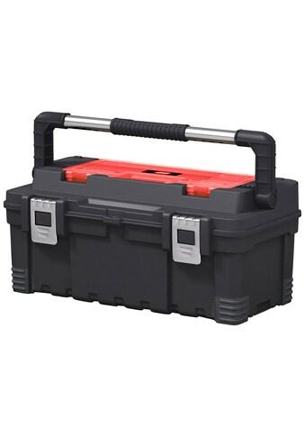 Keter Werkzeugbox »Hawk«, robuster gummierter Metalltragegriff, anpassbare Trennwände, Metallverschlüsse, kann auch herausgenommen und einzeln verwendet werden kaufen