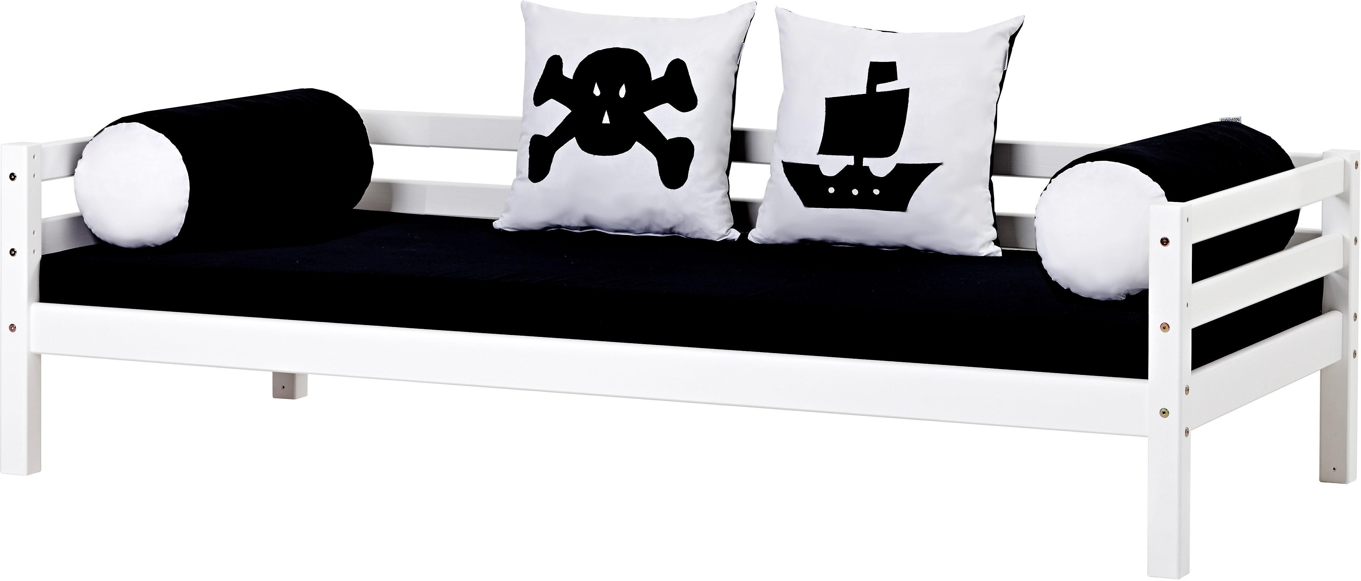 Hoppekids Piratenbett Pirat, inkl. Matratze und Rollrost schwarz-weiß Kinder Kinderbetten Kindermöbel