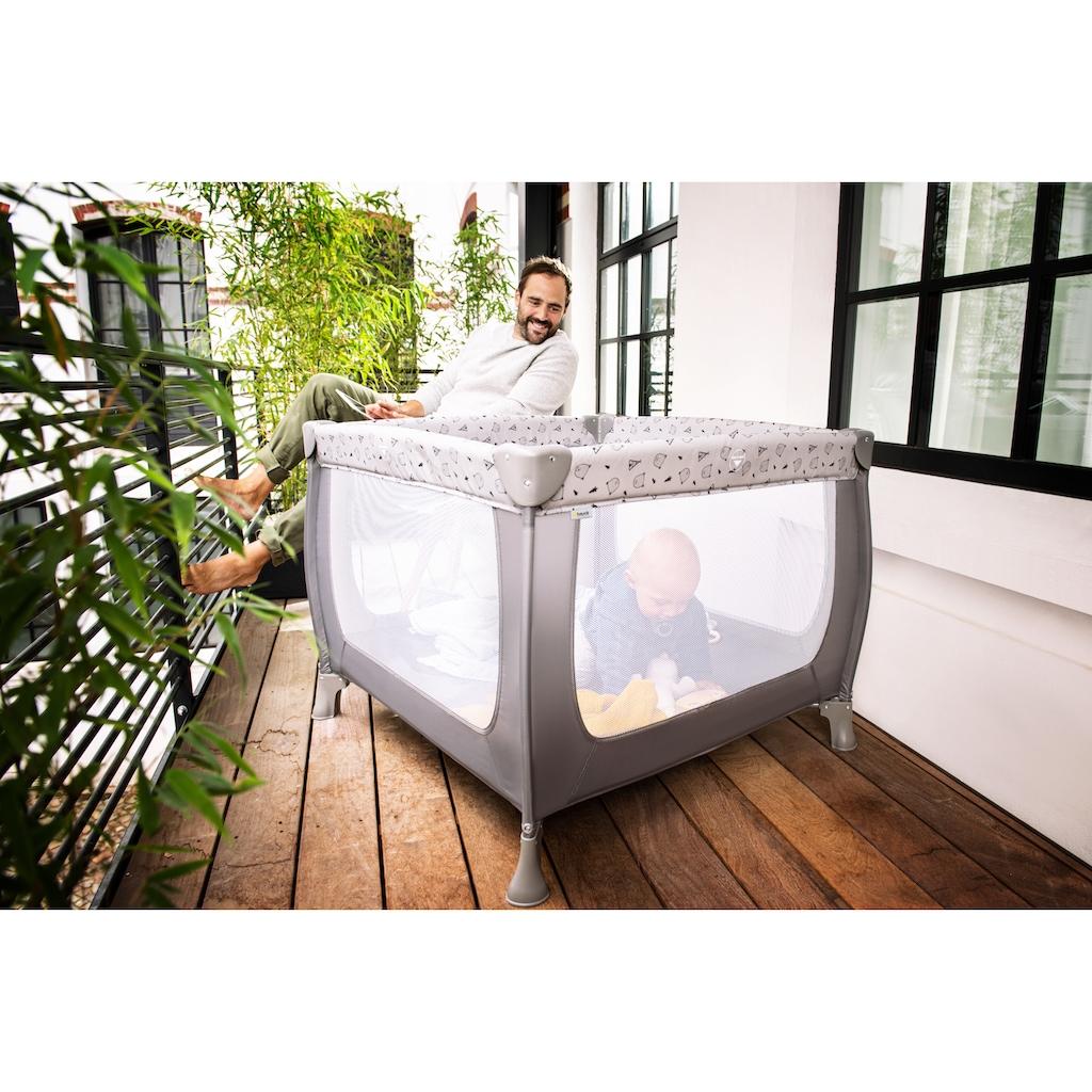 Hauck Baby-Reisebett »Sleep N Play SQ, Nordic Grey«, inkl. Transporttasche