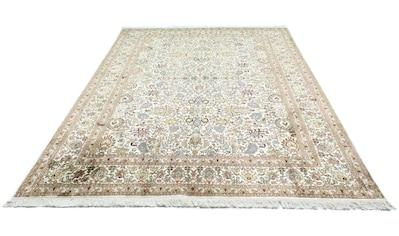 morgenland Teppich »Kaschmir Seide Teppich handgeknüpft beige«, rechteckig, 8 mm Höhe kaufen