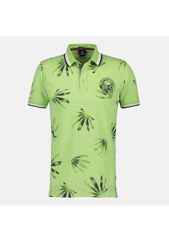 LERROS Poloshirt »Palms«, in klassischem Schnitt mit Alloverprint kaufen