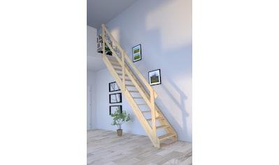Starwood Raumspartreppe »Korfu«, Holzgeländer links kaufen