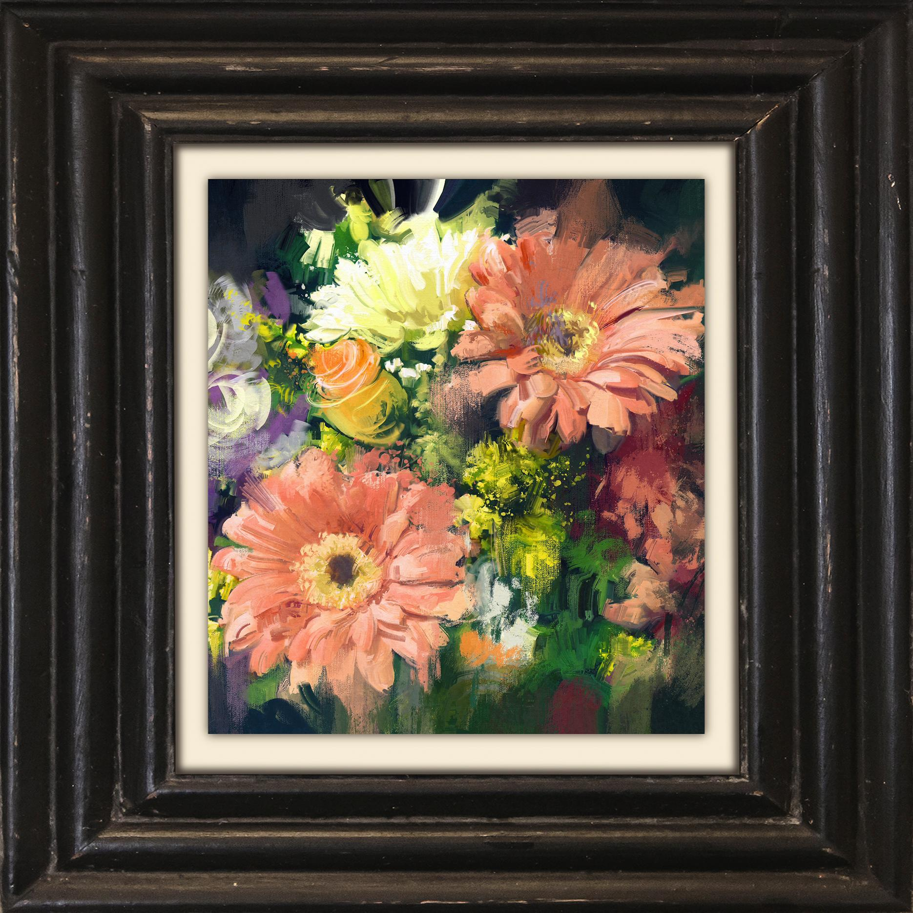 Holzbild »Bouquet«, Blumen