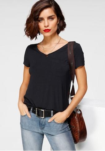 Tamaris T-Shirt, mit Fronttasche kaufen