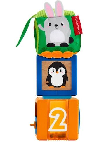 """Fisher - Price® Spielbausteine """"Babys bunte Tiersteine"""", Holz Kunststoff Polyester, (3 - tlg.) kaufen"""