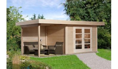 WEKA Set: Gartenhaus »Chill - Out Gr.1«, BxT: 585x284 cm, inkl. Anbaudach und Fußboden kaufen