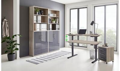 BMG Büromöbel-Set »Tabor«, (Set, 6 St.), mit elektrisch höhenverstellbarem Schreibtisch kaufen