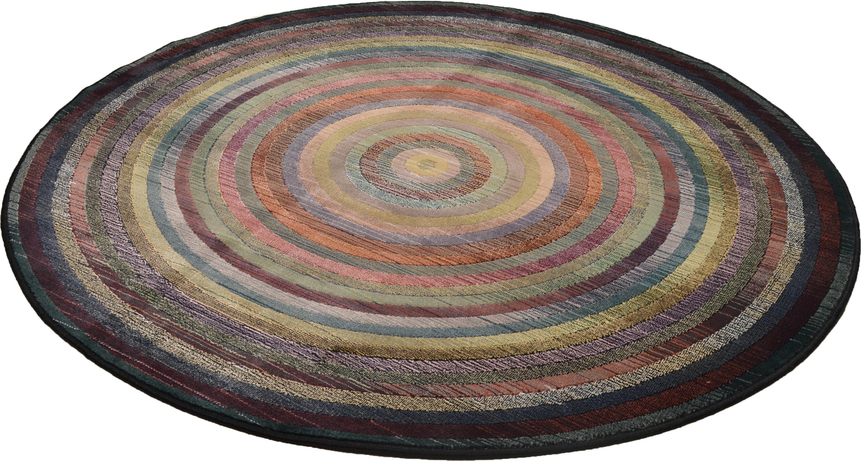 Teppich Gabiro 001 THEKO rund Höhe 10 mm maschinell gewebt