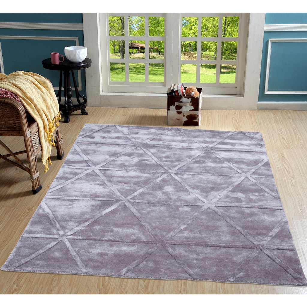 Leonique Teppich »Avan«, rechteckig, 13 mm Höhe, Hoch-Tief-Effekt, Wohnzimmer