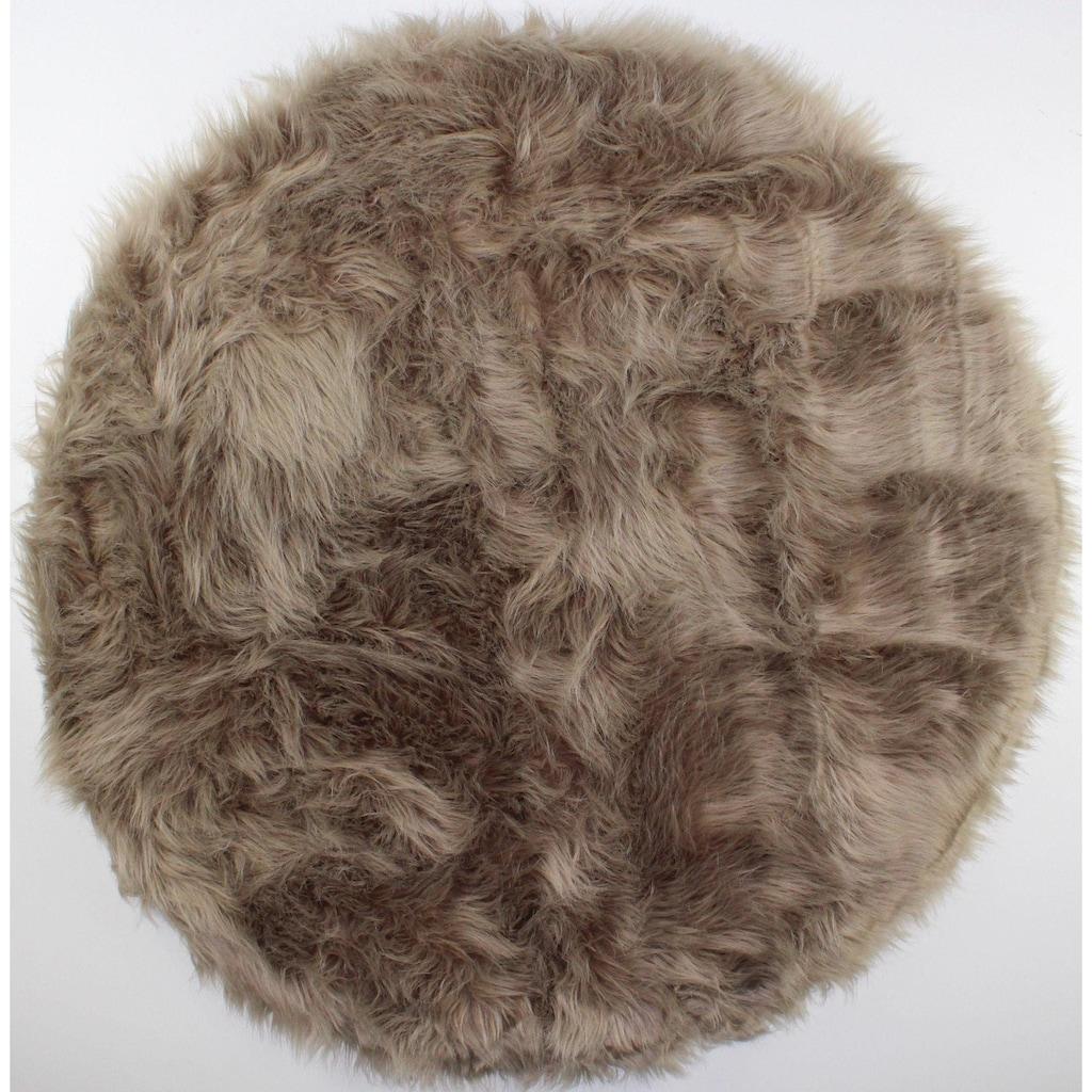 Dekowe Fellteppich »Fedor«, rund, 14 mm Höhe, Kunstfell, Wohnzimmer