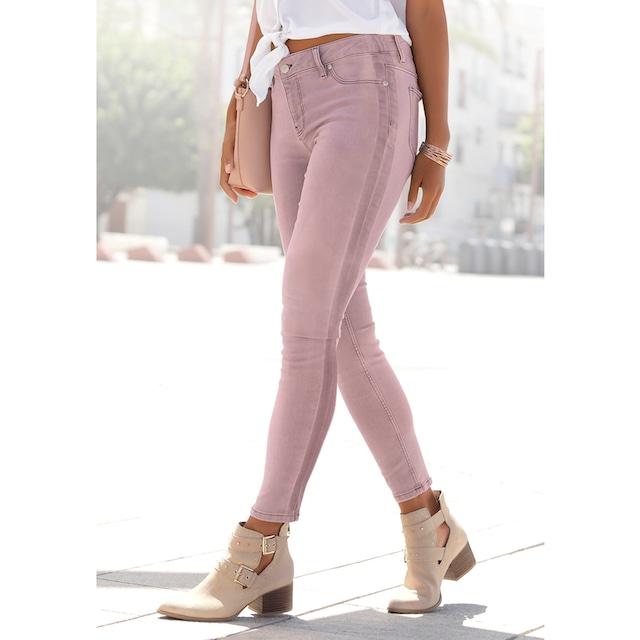 Buffalo Skinny-fit-Jeans, mit seitlichem Streifen