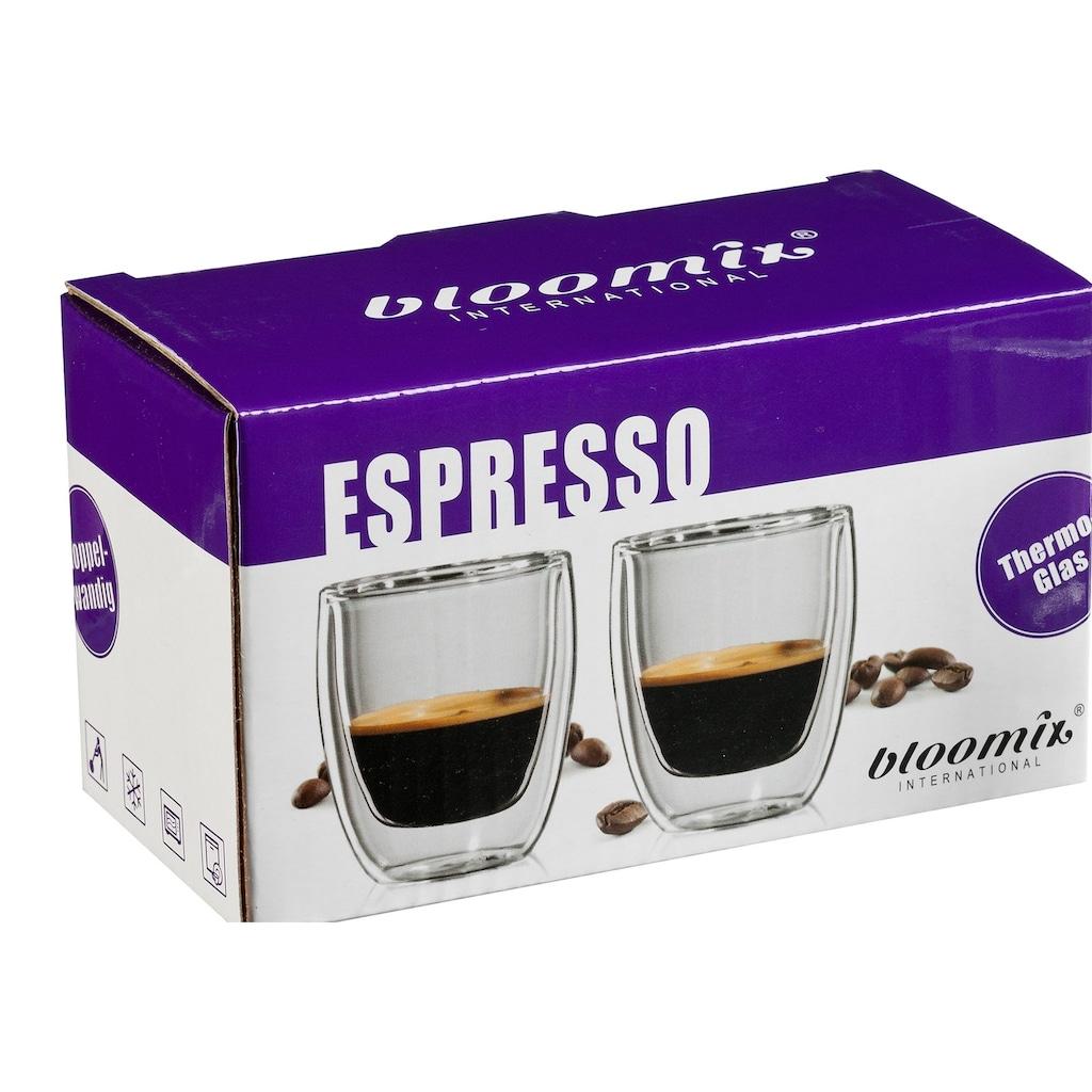 Bloomix Espressoglas »Roma«, (Set, 4 tlg.), Doppelwandig