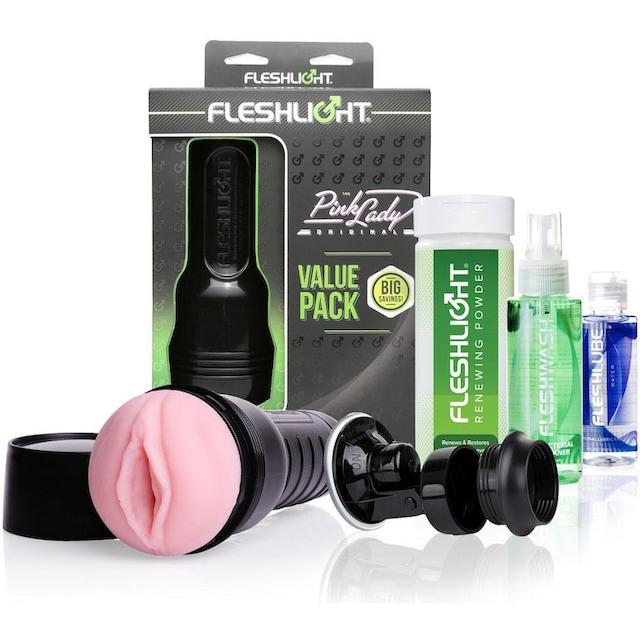 "Fleshlight Masturbator ""Pink Lady Original Value"", Packung 6-tlg."