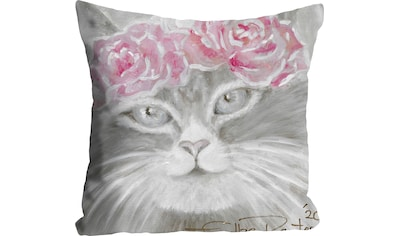 queence Kissenhülle »Cat with Flowers«, (1 St.) kaufen