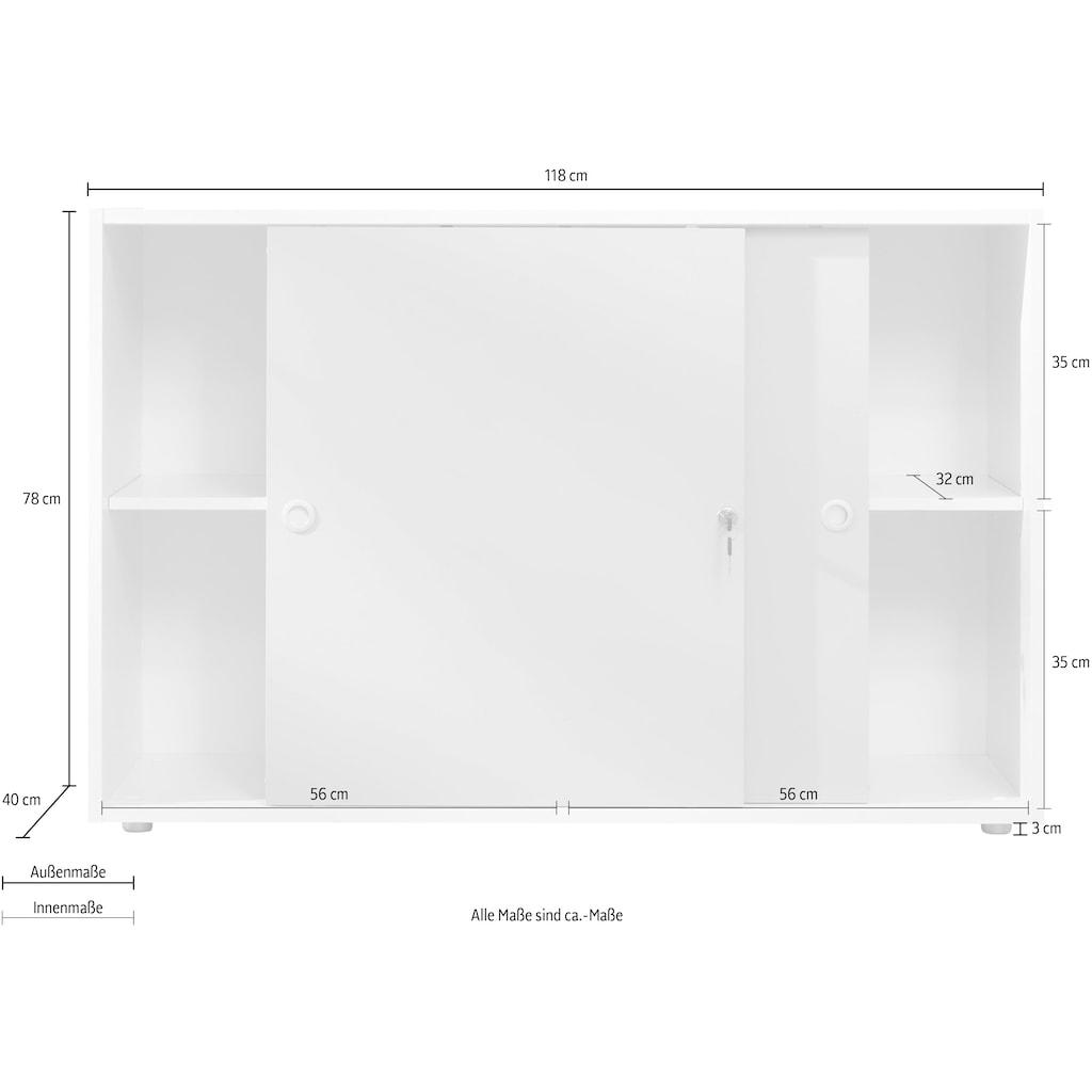 trendteam Schiebetürenschrank »Basix«, mit abschließbaren Türen