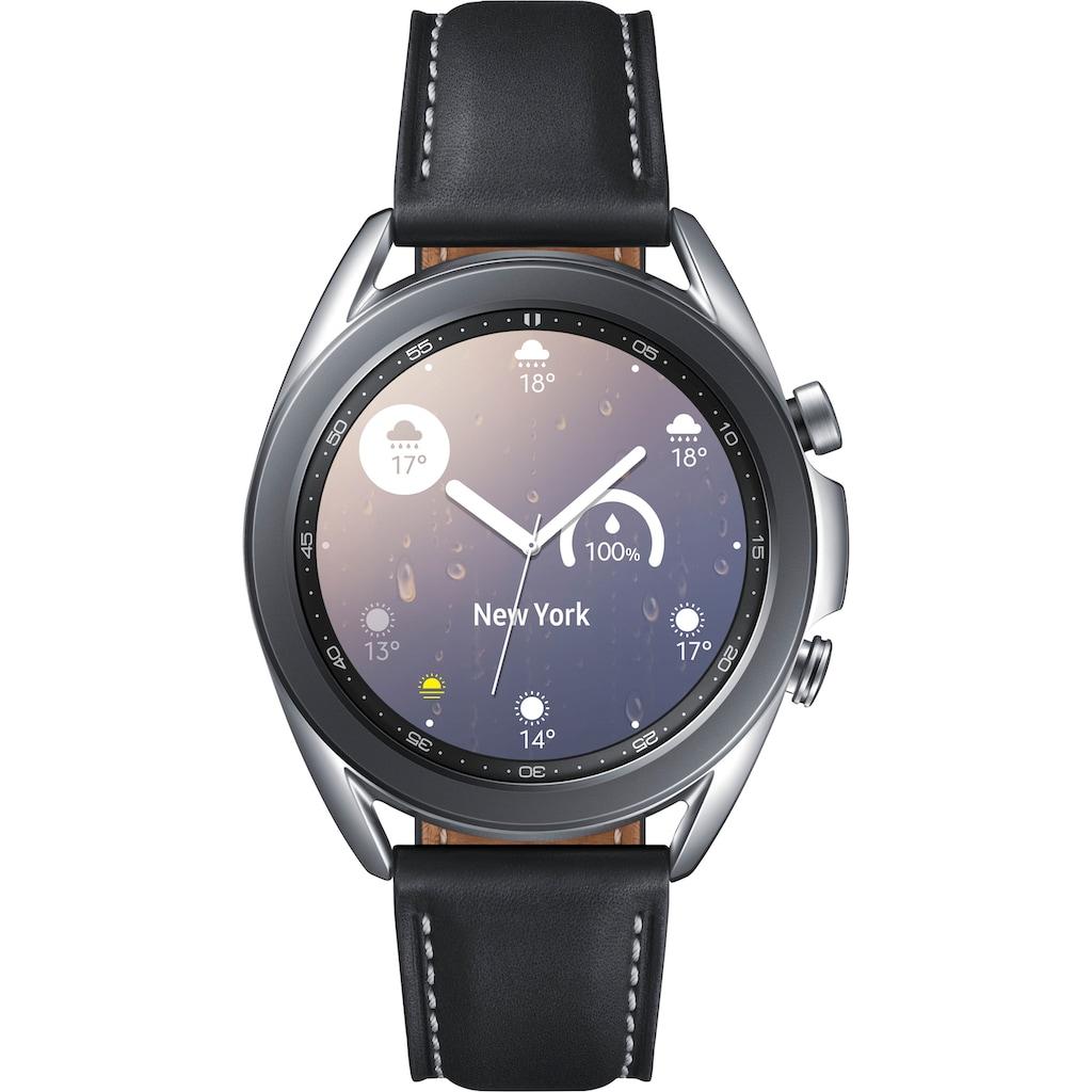 "Samsung Smartwatch »Galaxy Watch 3, Edelstahl, 41 mm, Bluetooth (SM-R850)« (3 cm/1,2 "", Android Wear"