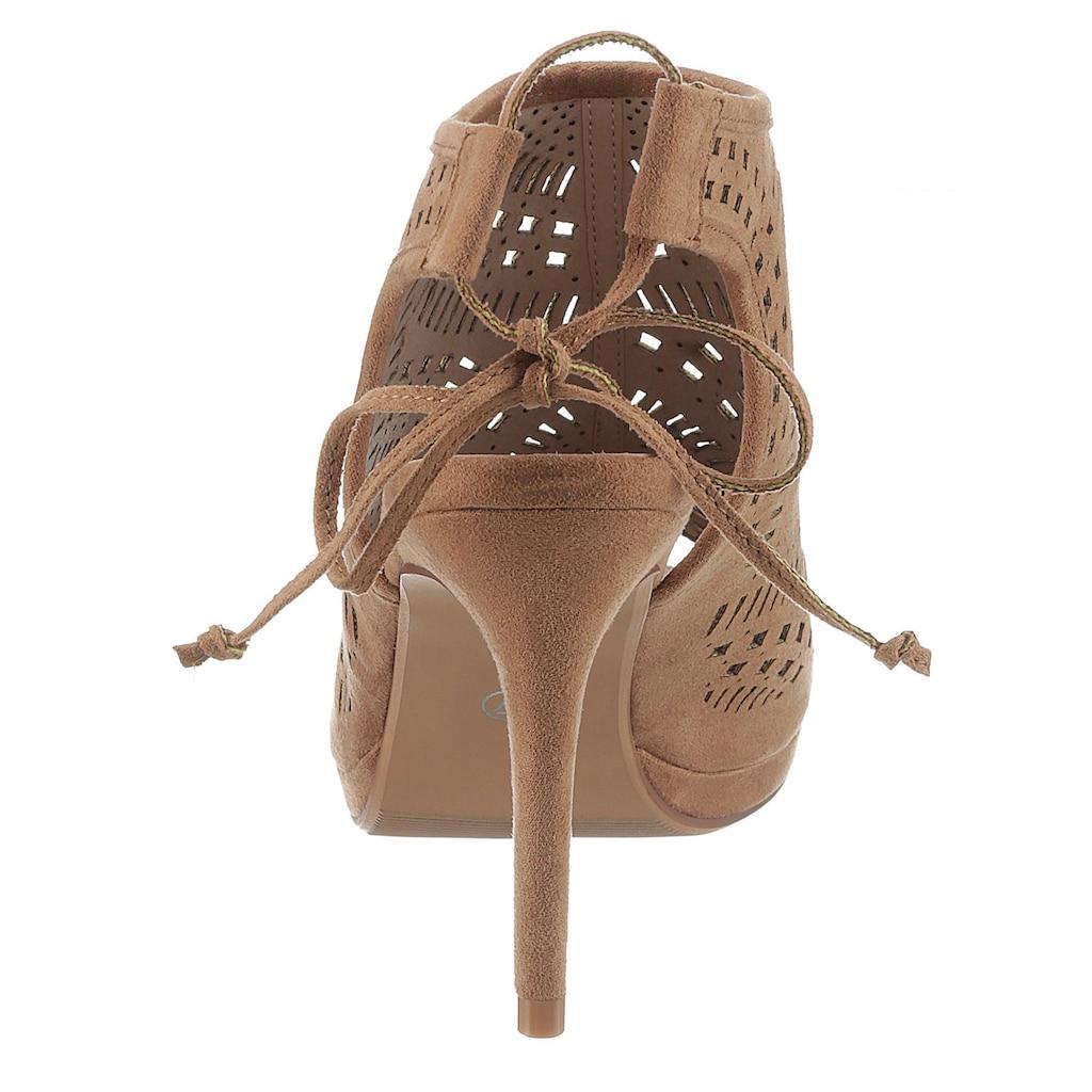 Bruno Banani High-Heel-Sandalette, mit modischem Lochmuster