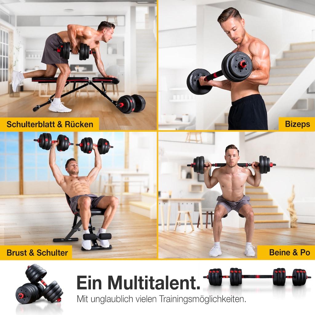 Sportstech Hantel »AH150, 30kg«, 30,5 kg, (Spar-Set, 15 tlg., mit Langhantelstange)
