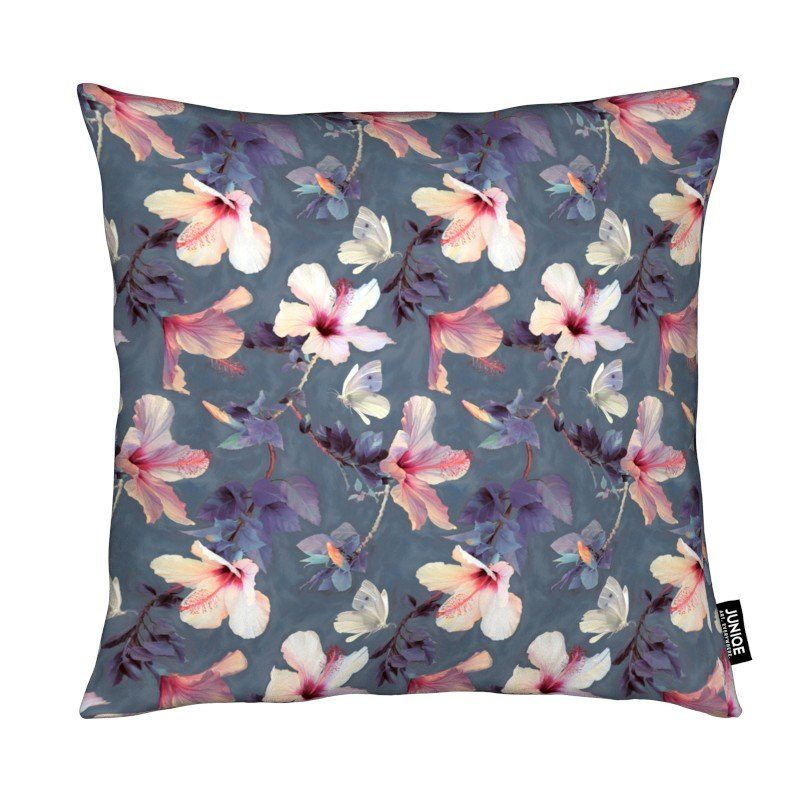 Dekokissen Butterflies & Hibiscus Flowers Juniqe