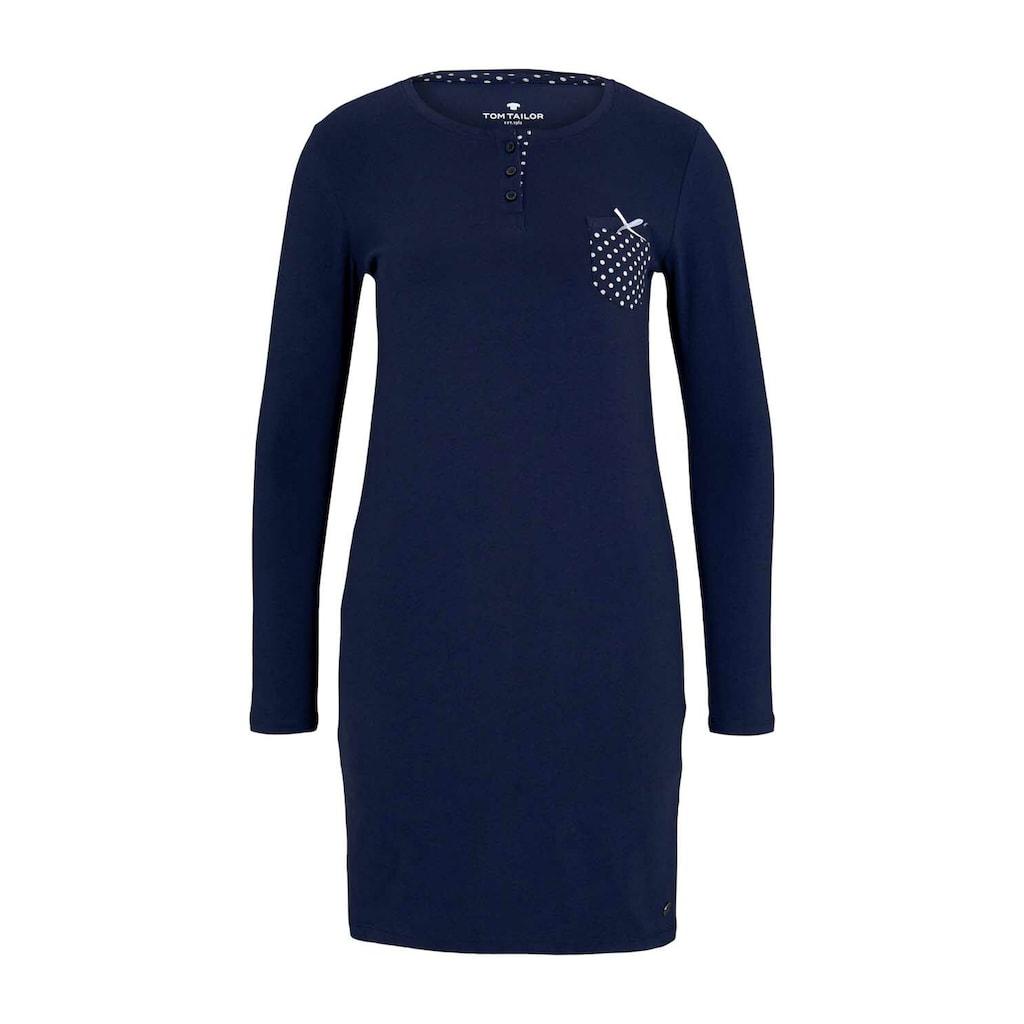 TOM TAILOR Nachthemd »Pyjama Kleid mit Brusttasche«