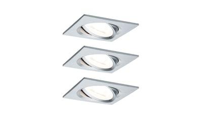 Paulmann LED Einbaustrahler »schwenkbar Nova eckig 3x6,5W Alu gedreht... kaufen