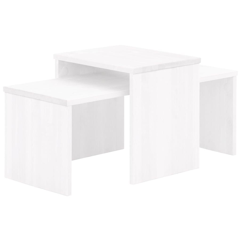 Home affaire Couchtisch »Leinz«, (Set, 2 St.), aus massiver Kiefer, Tischplatten in zwei Stärken erhältlich, Breite 100 cm