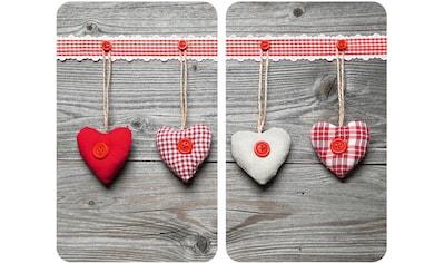 WENKO Herd-Abdeckplatte »Herzen«, rutschfesten Spezialfüße kaufen