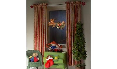 KONSTSMIDE Fensterbild, LED Fensterbild, Rentier mit Weihnachtsmann und Schlitten kaufen