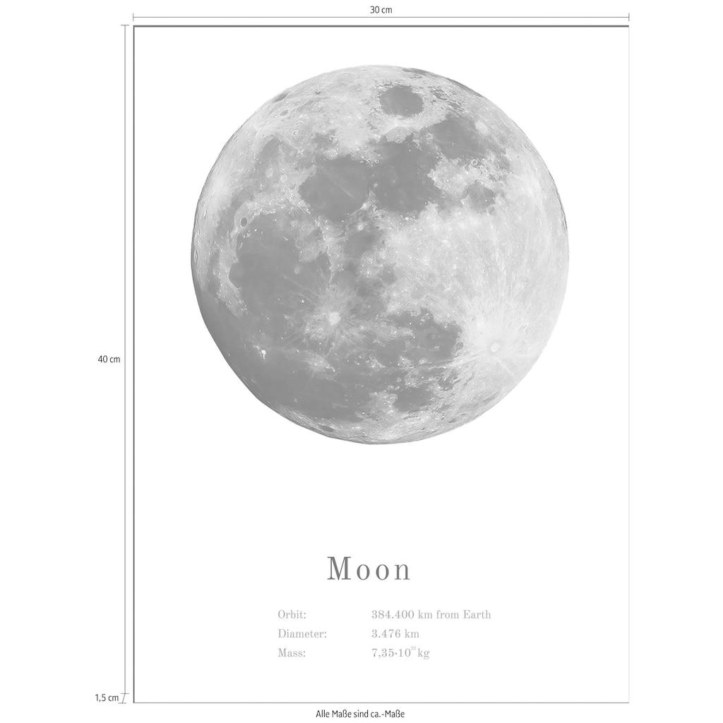Spiegelprofi GmbH Bild »Mond«, mit Rahmen