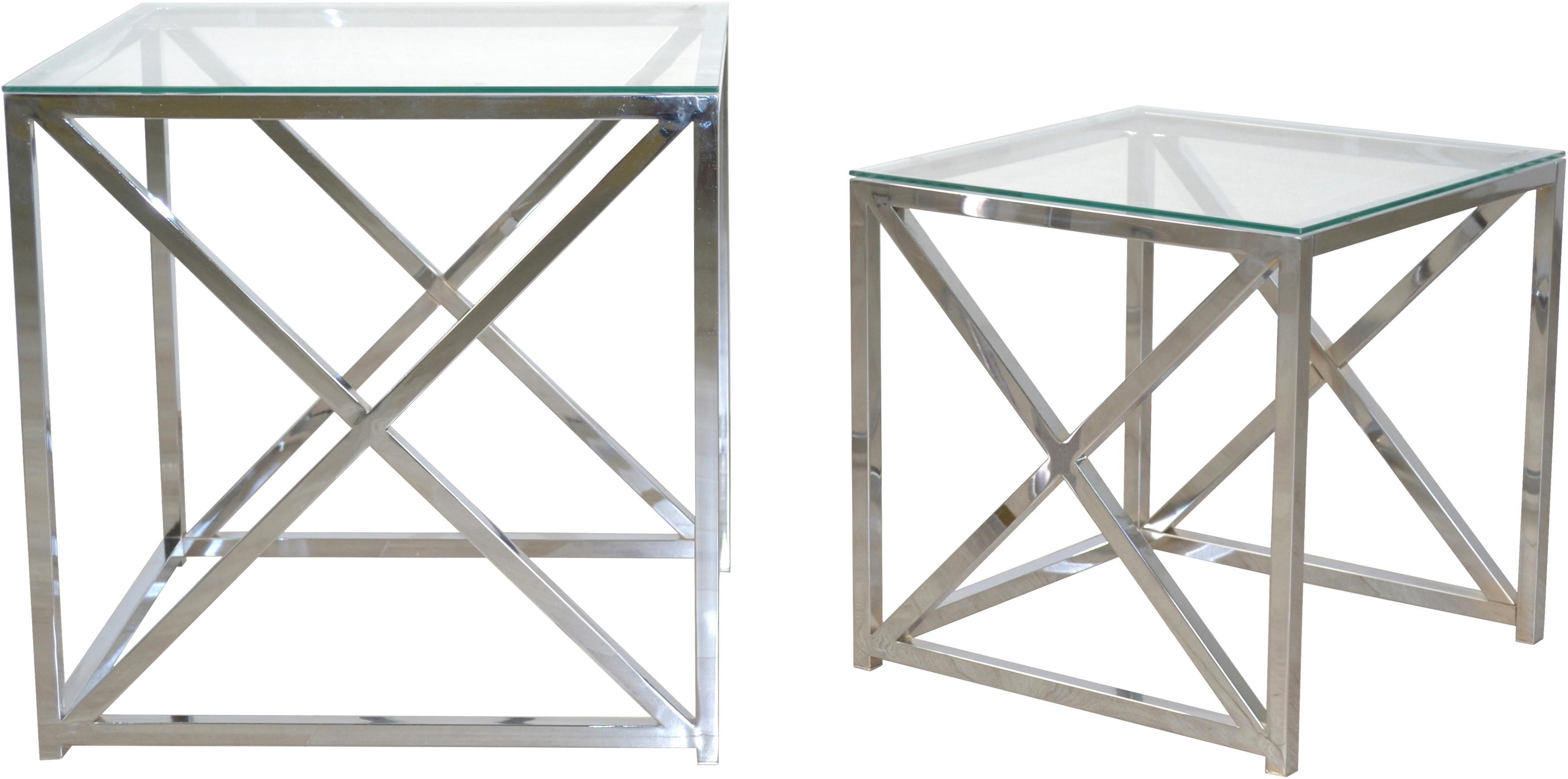 Home affaire Beistelltisch, (2 St.) silberfarben Beistelltische Tische Beistelltisch
