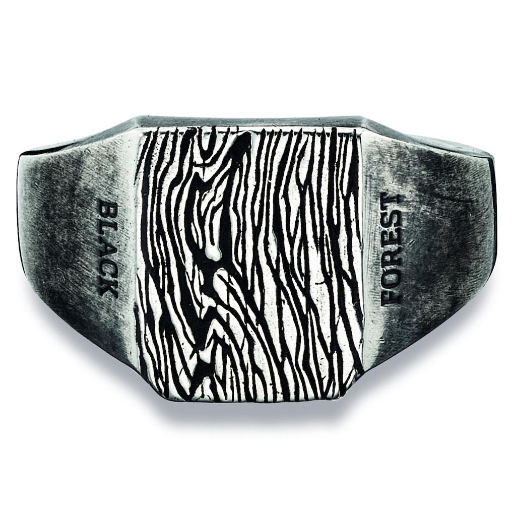 CAÏ Fingerring »925/- Sterling Silber oxidiert schwarz«, Ring