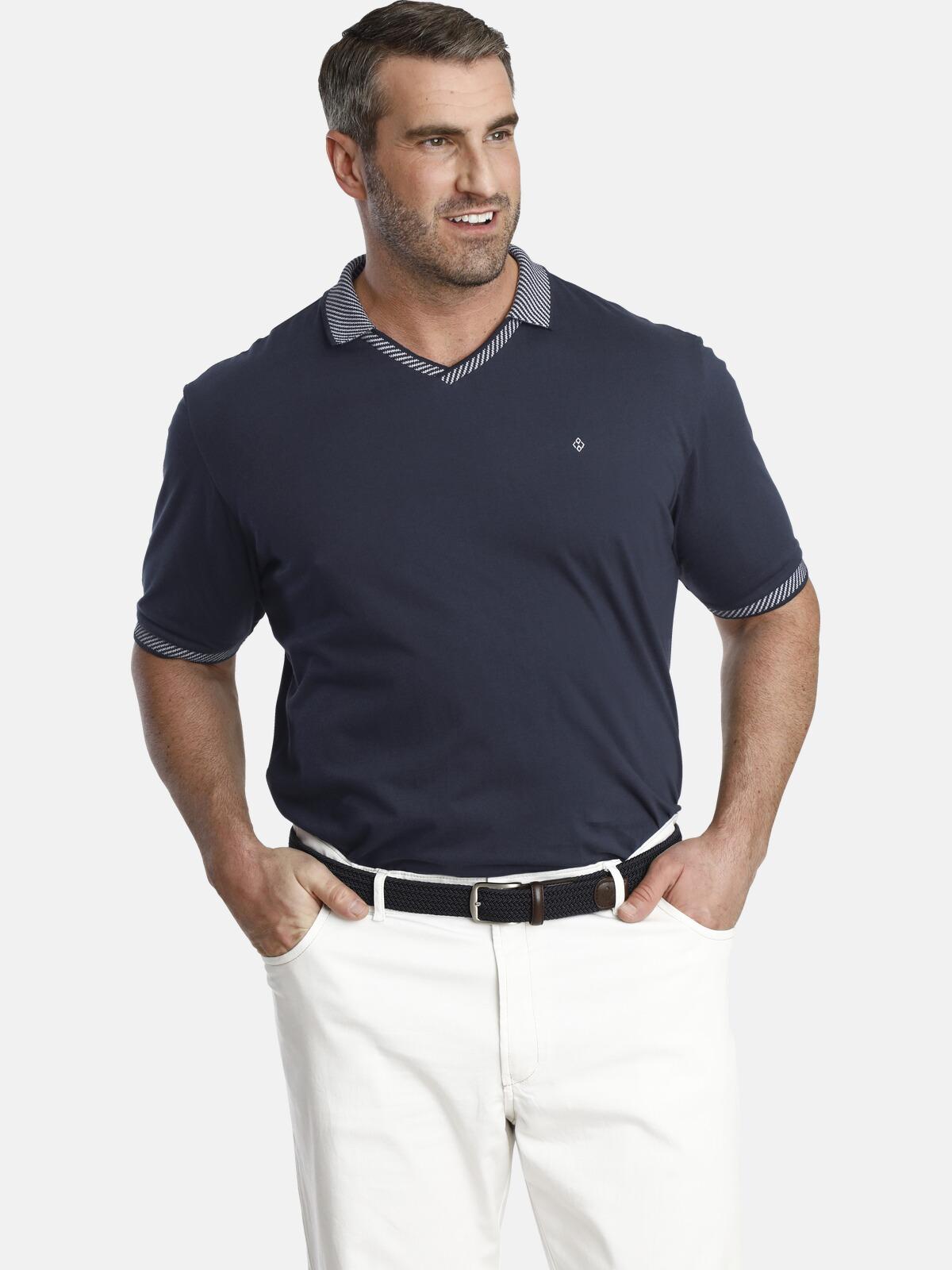charles colby -  V-Shirt EARL GOLO, mit gestricktem V-Ausschnitt
