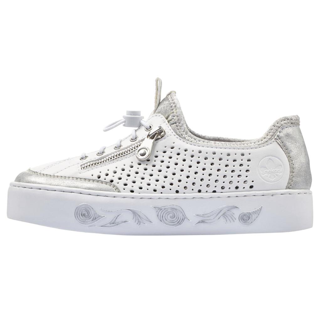 Rieker Slip-On Sneaker, mit markanter Plateausohle