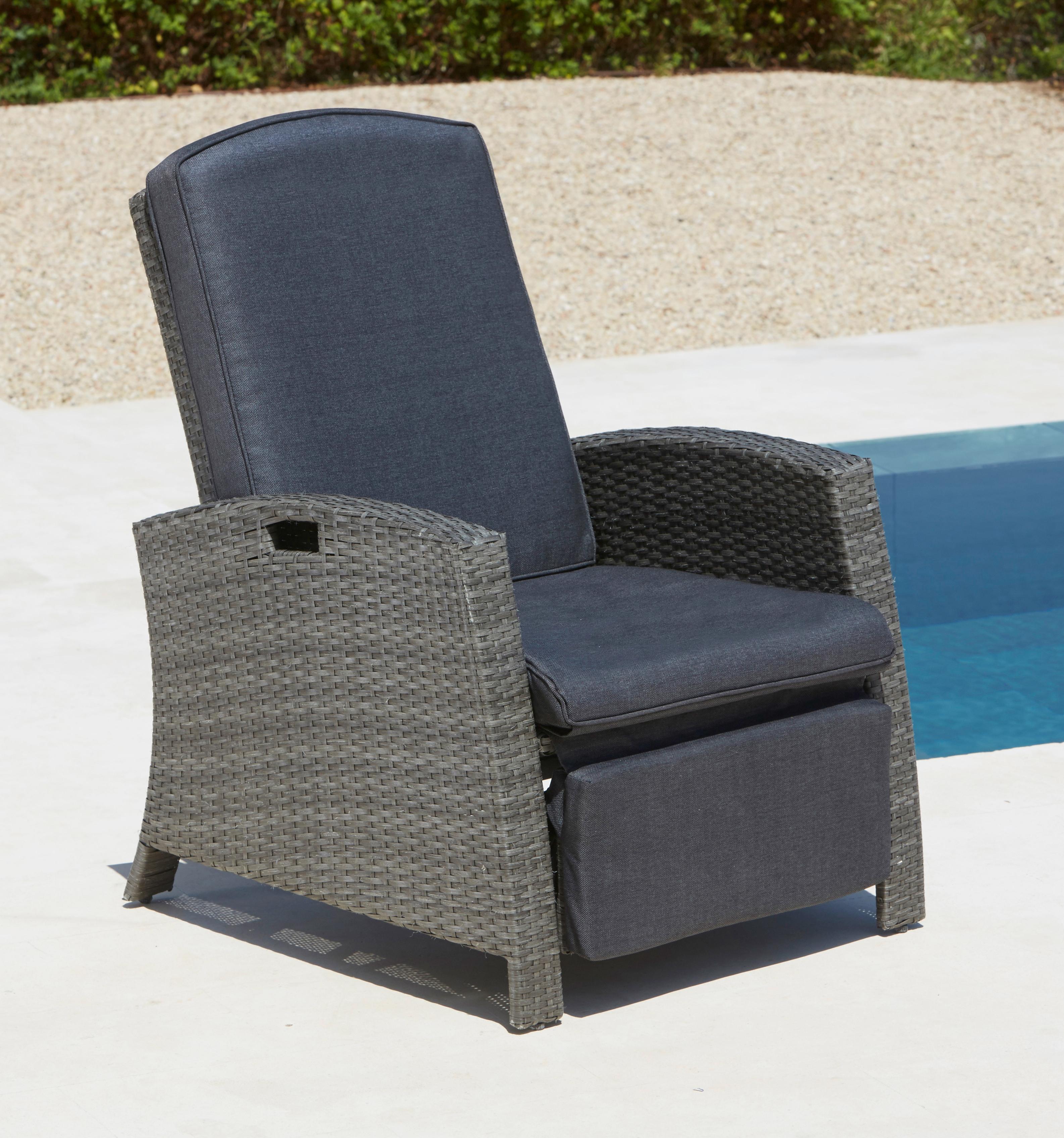 KONIFERA Relaxsessel Polyrattan verstellbar inkl Auflagen