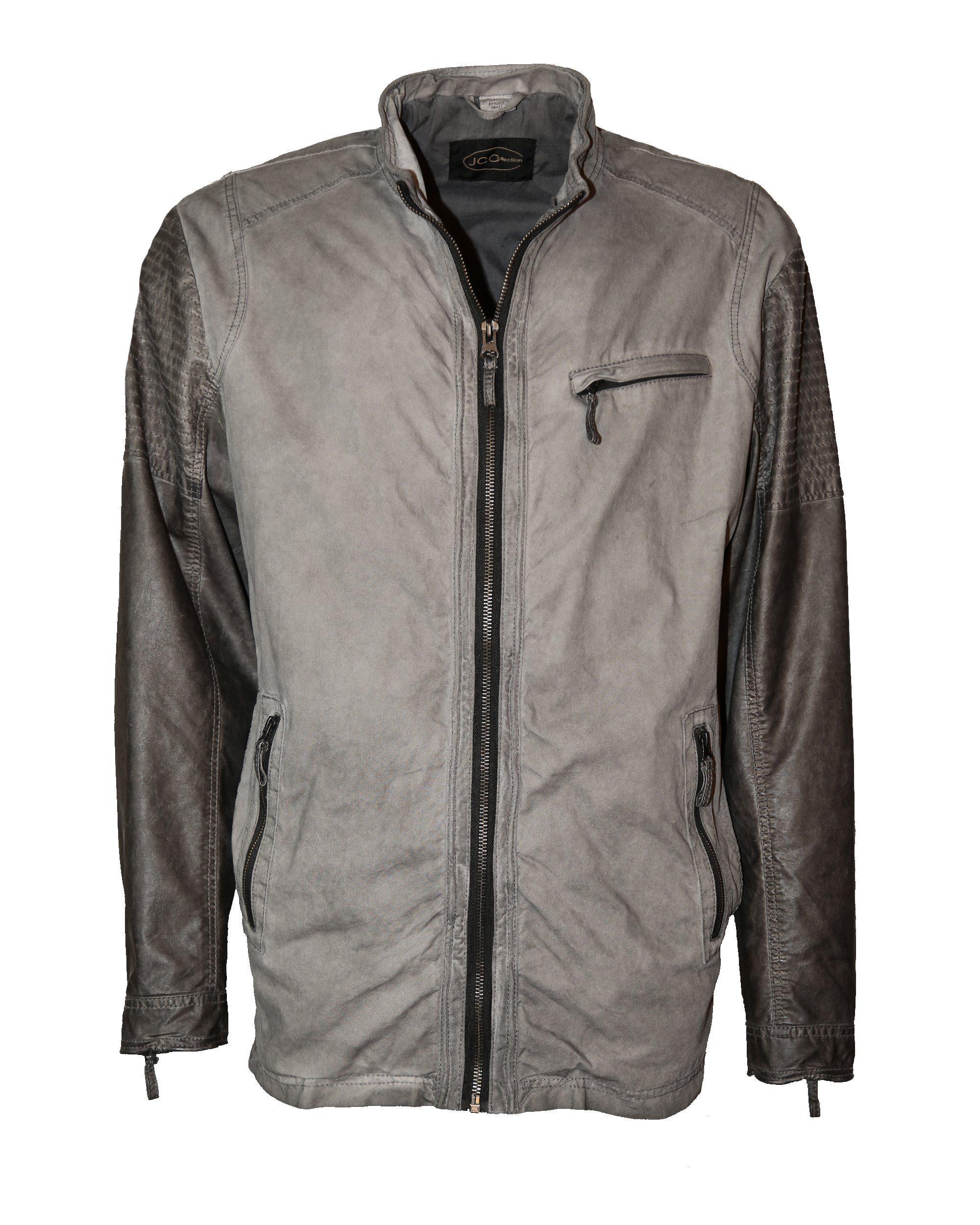 JCC Jacke im Bikerlook Barbalo | Bekleidung > Jacken > Sonstige Jacken | Grau | Baumwolle - Polyurethan - Polyester | Jcc