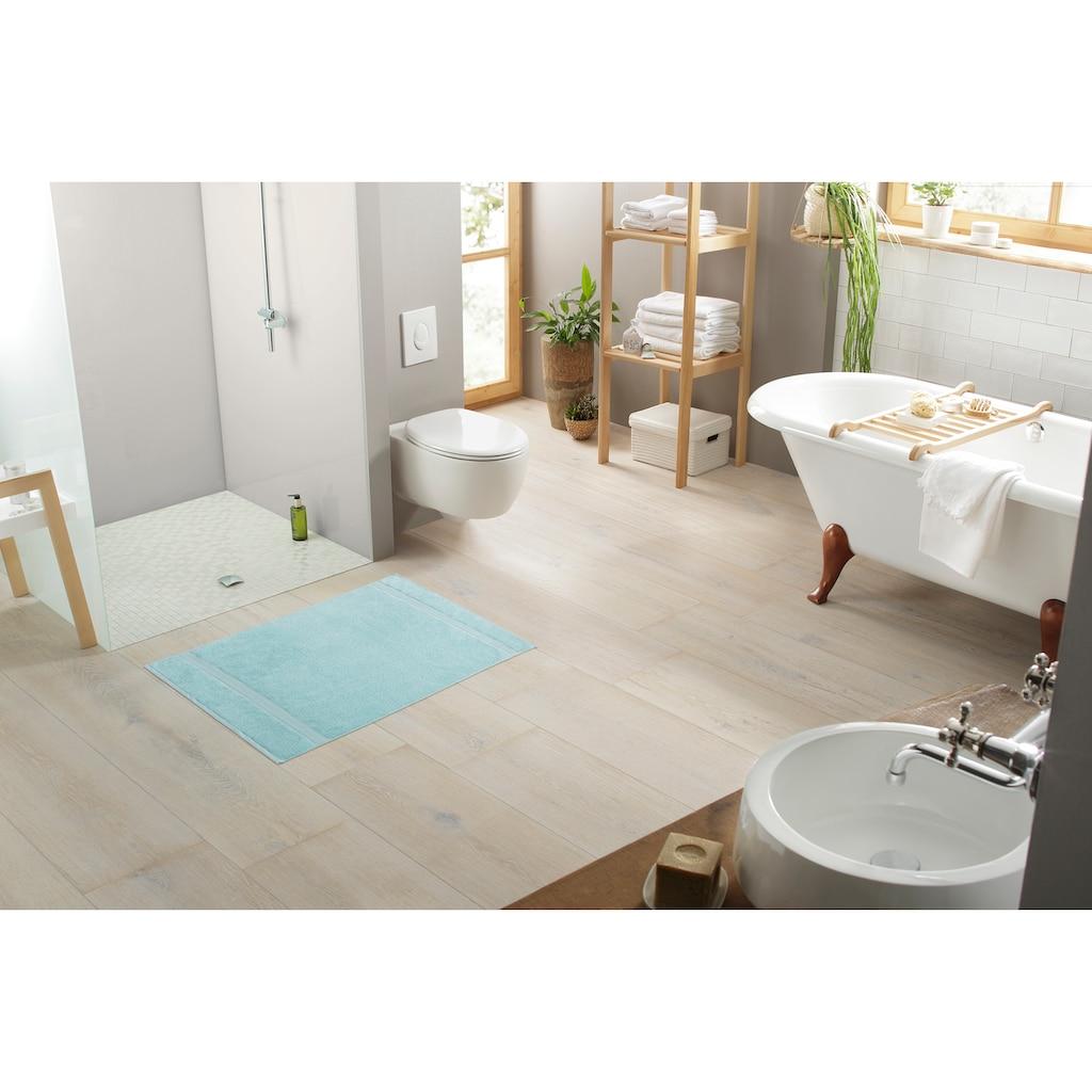 my home Badematte »Afri«, Höhe 4 mm, beidseitig nutzbar, 2-er Set