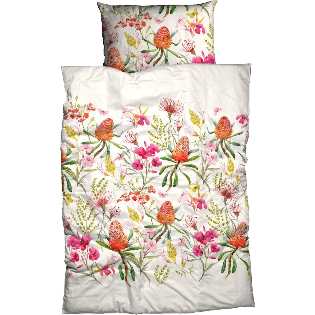 CASATEX Bettwäsche »Riva«, mit aufwendigen Blumendruck