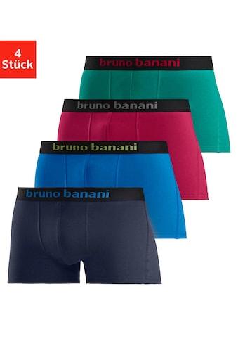 Bruno Banani Boxer, (4 St.), mit farbigen Marken-Schriftzug am Bündchen kaufen